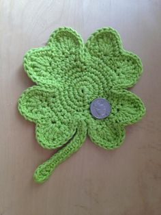 Let Out Your Inner Leprechaun: 10 Free Shamrock Crochet Patterns: Shamrock Coaster Free Crochet Pattern