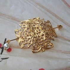 Celtic Cross Shawl Pin Celtic Lapel Pin by SterlingSimplicity, $19.00