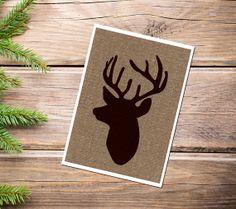 Woodland Brown Reindeer Print, Spring, Fall , Autumn , Christmas , Home decor , Wall art,  Rustic Home Decor on Etsy, $14.00