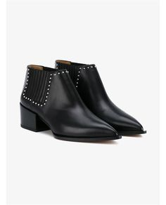 GIVENCHY Studded Leather Ankle Boots. #givenchy #shoes #boots