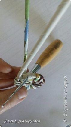 """Плетение из """"корня"""", вариант начала круглого дна фото 4"""