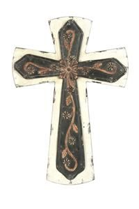 Metal/Wood Wall Cross - Black and Whitehttps://www.pinterest.com/source/mardel.com/