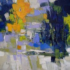 """""""Fleurs jaunes dans la grève"""" 61x50 huile sur toile"""