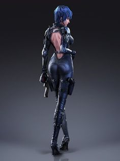 Kai Fine Art is an art website, shows painting and illustration works all over the world. Character Concept, Character Art, Concept Art, Character Design, Cyberpunk Character, Cyberpunk Art, Art Manga, Sci Fi Armor, Fantasy Images