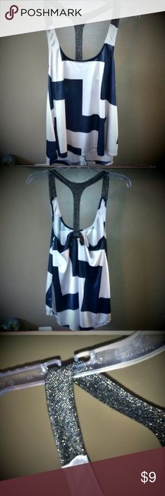 MAKE AN OFFER! NEW Dressy top Racerback Never wore it Size Small Looks exactly as shown Racerback straps Very smooth material  Bow on back Weavers Tops