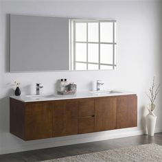 Upgrade your bathroom with this contemporary floating vanity from Inolav. Choose the best cabinet color and quartz color combination for your space.