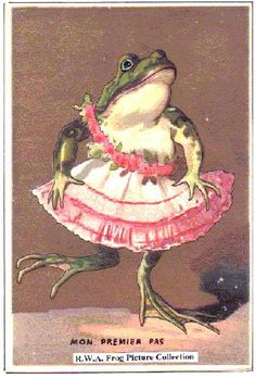 Frog in a pink dress. Art Bizarre, Weird Art, Pretty Art, Cute Art, Frosch Illustration, Photowall Ideas, Frog Pictures, Frog Art, Cute Frogs