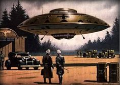 worse than a regular flying saucer - this is a Nazi flying saucer