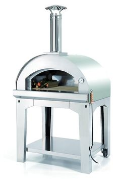 Forno Toscano Mangiafuoco Pizza Oven. Also Bakes bread, cookies and everything else.