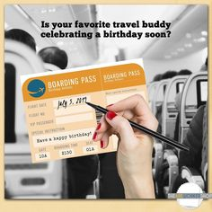 It may not actually get your friend anywhere, but it's the thought that counts, right?😁 Next birthday, get the real deal 😉 Different Types Of People, Pretty Images, How To Make Paper, Folded Cards, Blank Cards, Boarding Pass, Birthday Cards, Printables, Entertaining