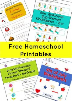 Dozens of Free Printables ~ perfect for homeschooling or as extra practice    The Happy Housewife