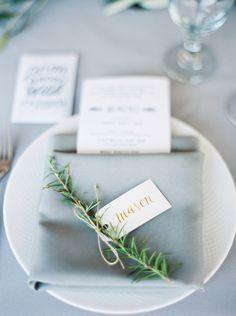 Rosemary Twine Luggage Tag Wedding Place Card