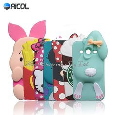 New 3D Cartoon Rabbit Silicone Case For Samsung Galaxy Core 2 G355 G355H G3509 Case Minnie Beans Sulley Horse Bunny Soft Cover