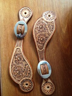 More gorgeousness from Shaun, new spur straps that'll have Ken Miller spurs on them soon!!!    Shaun makes saddles, bridles, spur straps, slobber straps, mecate reins etc. He is a genius carver.    If you need anything drop him a line at shaunlennane@gmail.com or call +61 4202 701 155. Shaun is located outside Scone in the Hunter Valley, NSW, Australia