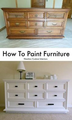 How To Paint Furniture - Learn how to paint furniture with this step-by-step tutorial. Many tips for how to get a smooth finish. by nikki