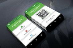 Mobile Business Card   Creative Photoshop Templates ~ Creative Market Free Business Card Design, Business Cards Layout, Business Brochure, Business Card Logo, Creative Business, Creative Photoshop, Adobe Photoshop, Name Card Design, Mobile Business