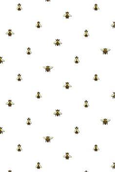 wild honey bee spot wallpaper - A4 sample