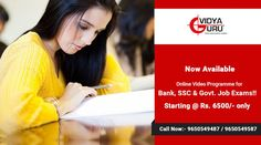 If you are looking forward to accelerate your SSC/Bank exam preparations,gear yourself up and  become a part of VidyaGuru Online/pendrive classes. Hurry and enroll yourself now... For more details... Visit: http://online.vidyaguru.in/ or Call: 9650549487,9650549587