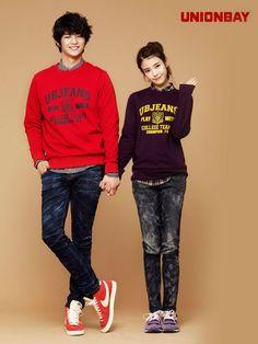 Korean singer IU and Seo In-guk for Unionbay's [Kr] 2011 Fall collection… Cute Korean, Korean Men, Asian Men, Korean Style, Seo In Guk, Seo Kang Joon, Korean Celebrities, Korean Actors, Teen Fashion