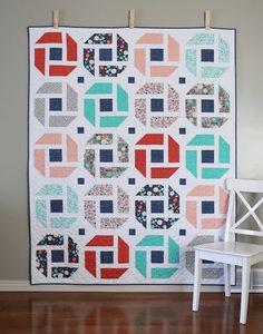 Cheerful - a fresh, modern, fat quarter quilt pattern from A Bright Corner