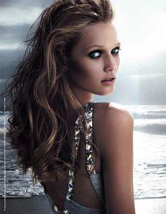 "Sooo beautiful!! Toni Garrn. Versace ""Versense"" Fragrance. Photographed by Michelangelo di Battista."
