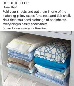 Organized your folded sheets!