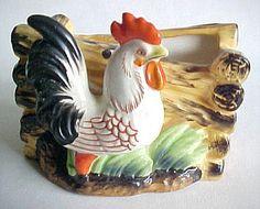Colorful Rooster Vintage Planter