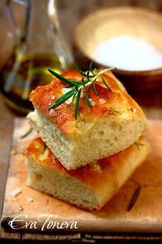 Rosemary Focaccia Bread  on the site you can change the language to english or any language to get the reciepe