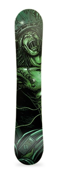 Experiment. Diseño de vinilo adhesivo para snowboard. #greenmonkeybanana