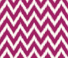 Berry Purple Ikat Chevron fabric by jenniferstuartdesign on Spoonflower - custom fabric