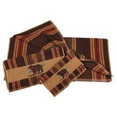 Bear Stripe 3-Piece Towel Set - Stripes