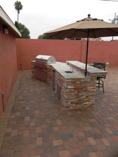 New patio and BBQ island
