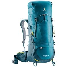 FEATURES of the Deuter Aircontact Lite PackEven with heavy loads the hip belt is easy to adjust with its Pull-Forward constructionPerfect load transfer to the hip belt through adjustable, flexible, multi-chamber aluminium X-frameDouble bottomSpaci Sac A Dos Trekking, Internal Frame Backpack, Backpack Online, Backpacking Europe, Pumps, One Bag, Packing Light, Black Friday Deals, Hiking Backpack