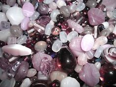 50g PURPLE MIX CZECH GLASS BEADS Jewellery Making MXB48 | eBay