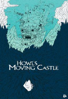 Studio Ghibli Poster Series: Howl's Moving Castle - Jack Bloom