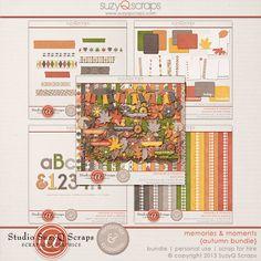 fall digital scrapbook collection