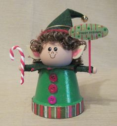 Clay Pot Elf, no directions but I think I can make this.