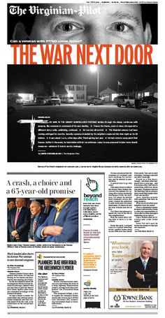 The Virginian-Pilot's front page for Sunday, Dec. 15, 2013.