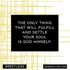 this study looks incredible and echos my heart's cry 100%! check out the video friends and prepare to reach farther with your life, with your gifts.   Restless... Because You Were Made For More | by Jennie Allen