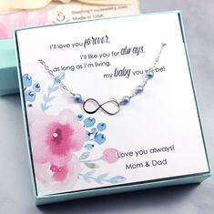 Daughter Gift: Infinity Charm Bracelet, Sterling Silver, Swarovski Crystal Pearls, Daughter Birthday, Jewelry Gift for Daughter, Girls, Teen Etsy Jewelry, Jewelry Gifts, Silver Jewelry Cleaner, Infinity Charm, Pearl Design, Etsy Christmas, Mom Gifts, Christmas Gift Guide, Custom Jewelry Design