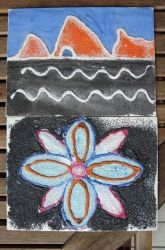 This might be a fun activity to do after visting a park in honor of the Luiseno. Activities: Make a Native American Sandpainting