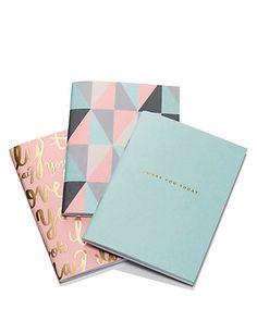 Set of 3 Geometric Mini Notebooks Home