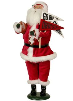 ohio state byers choice santa | Byers Choice - Ohio State Santa Buckeye Pride!! The perfect Carolers ...