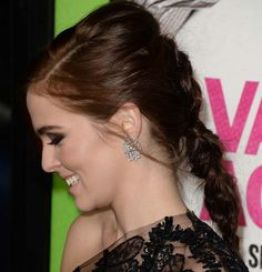 10 Chic Chunky Messy Braids: Zoey Deutch Braided Hairstyles