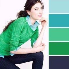 Trucos e ideas de Estilo: hoy os dejamos 6 ejemplos para combinar los colores...  ¡Chicas, guardamos para no perder!