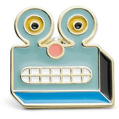 Fossil Robot Lapel Pin ($14) ❤ liked on Polyvore featuring jewelry, brooches, pin brooch, pin jewelry and fossil jewelry
