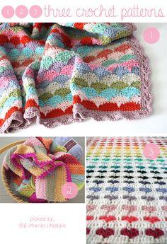 Three crochet patterns