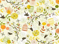 Pajaros Cages Summer - Buy Wallpaper Online   Origin Wallpapers