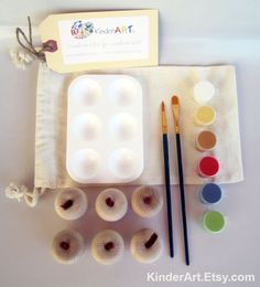 DIY Wooden Apples and Paint Kit in a Bag Arts and Crafts Kit for Kids. $16.00, via Etsy.