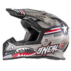 All Sizes O/'Neal Racing 5 Series Wingman Helmet Grey//Blue//Red